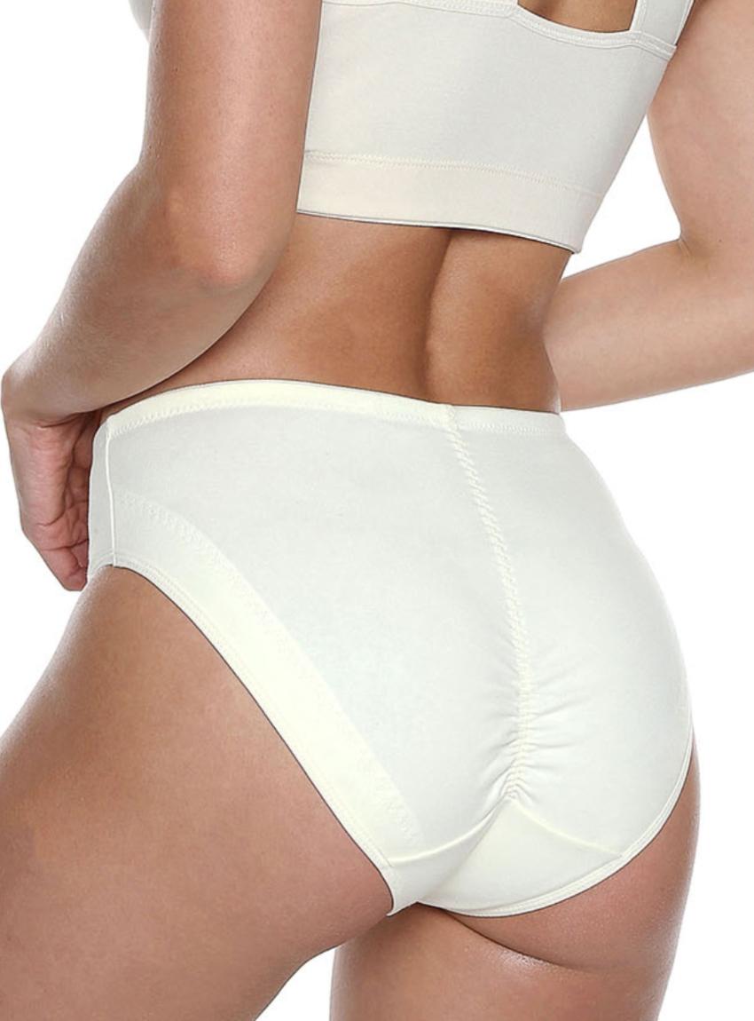 Panty clásico control levanta cola reforzado con material de control en puntos clave, abdómen y pierna. Diseño costura trasera levanta cola