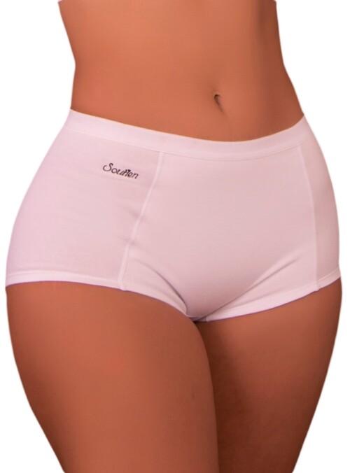 Panty cachetero juvenil, tiro medio alto, elástico plano en cintura y aplique en lateral, excelente horma y transpiración.